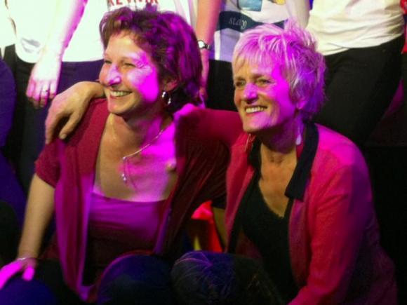 Michèle et Ivana durant la remise de prix